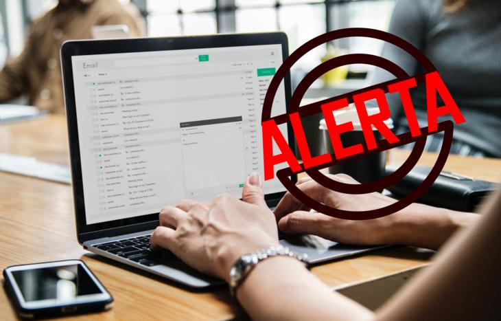 Alerta E-mail fraudulento