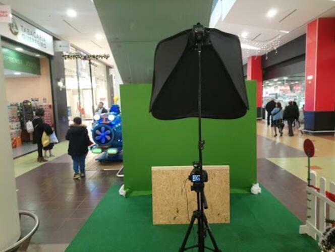 Instalação do sistema de fotografias automático com Chroma Key